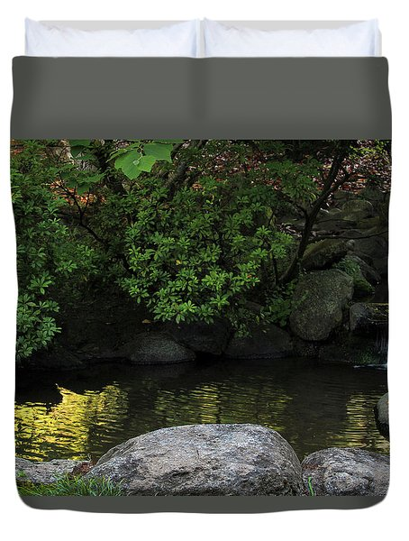 Meditation Pond Duvet Cover