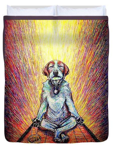 Meditation Duvet Cover by Viktor Lazarev