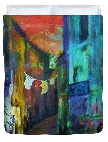 Mediterranean Dusk Duvet Cover by Margaret  Plumb