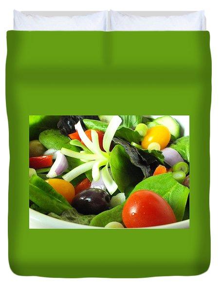 Mediterranean Salad Duvet Cover