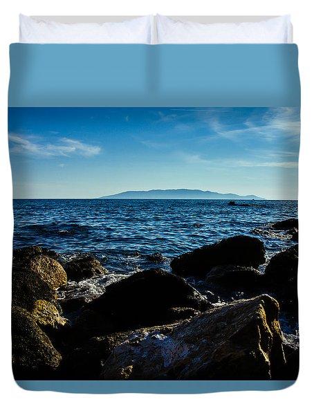 Mediterranean Sea - Argentario Duvet Cover