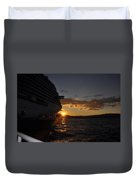 Mediterranean Sunset Duvet Cover