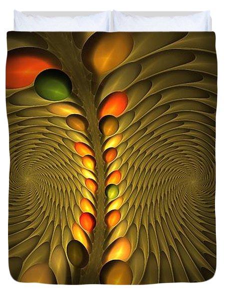 Meditirina Seed Pod Duvet Cover