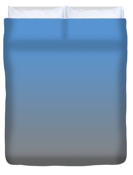 Medium Gray Ombre Duvet Cover