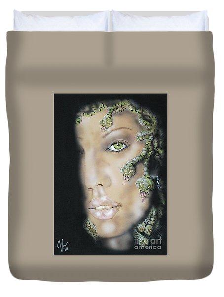 Medusa Duvet Cover by John Sodja