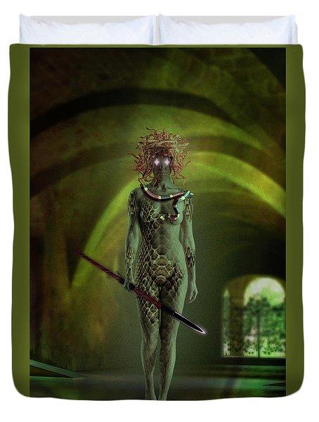 Medusa Duvet Cover by Scott Meyer