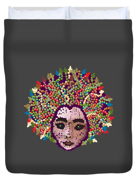 Medusa With Transparent Background Duvet Cover
