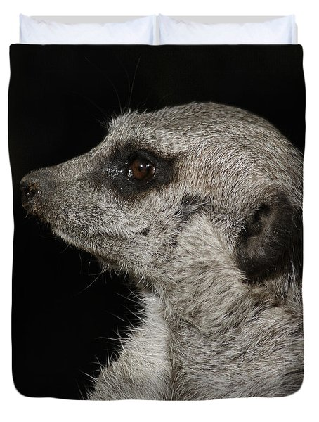 Meerkat Profile Duvet Cover by Ernie Echols