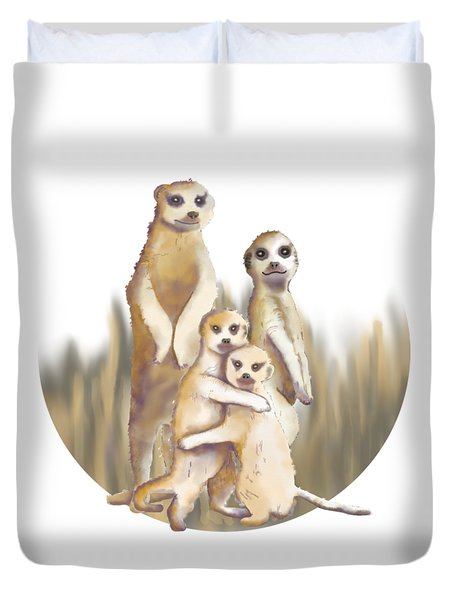 Meerkats  Duvet Cover