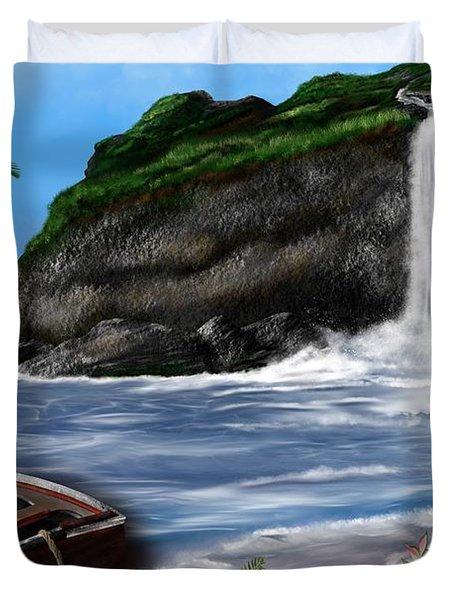 Meet Me At The Beach Duvet Cover