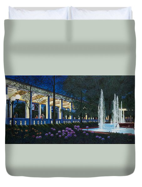 Meet Me At The Muny Duvet Cover