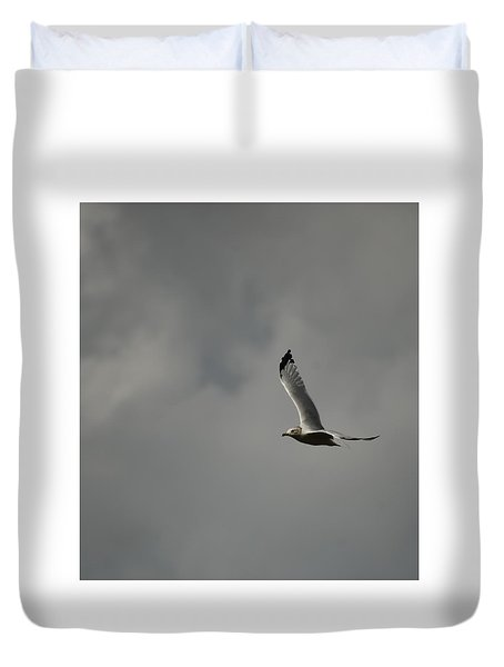 Duvet Cover featuring the photograph Meet Me On The Other Side by Ramona Whiteaker