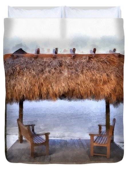 Meet Me Under The Chickee Hut Duvet Cover