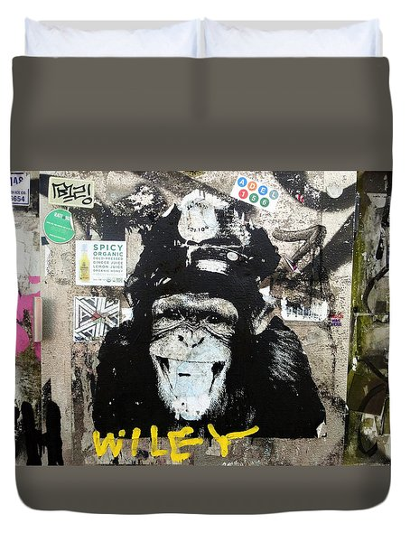 Meet Wiley In New York  Duvet Cover