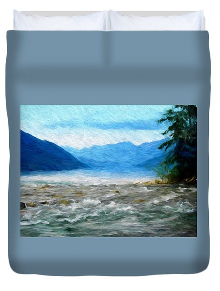 Meeting Waters Duvet Cover