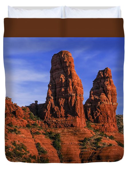 Megalithic Red Rocks Duvet Cover