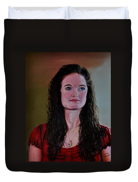 Megan At Eighteen Duvet Cover by Stan Hamilton