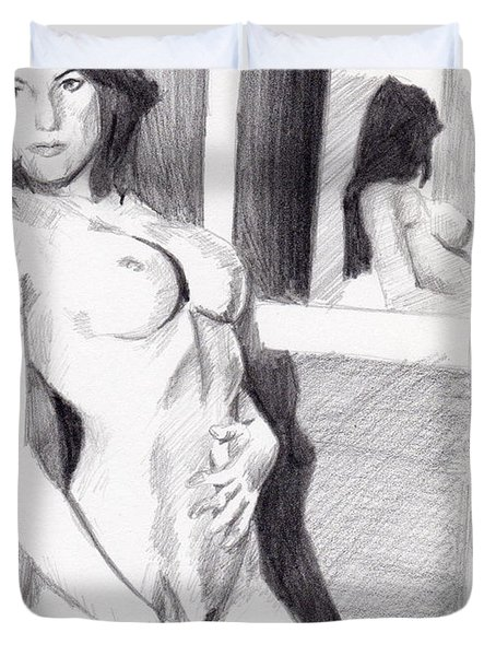 Megan-mirror Duvet Cover
