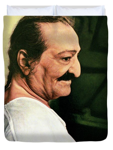 Meher Baba 3 Duvet Cover by Nad Wolinska