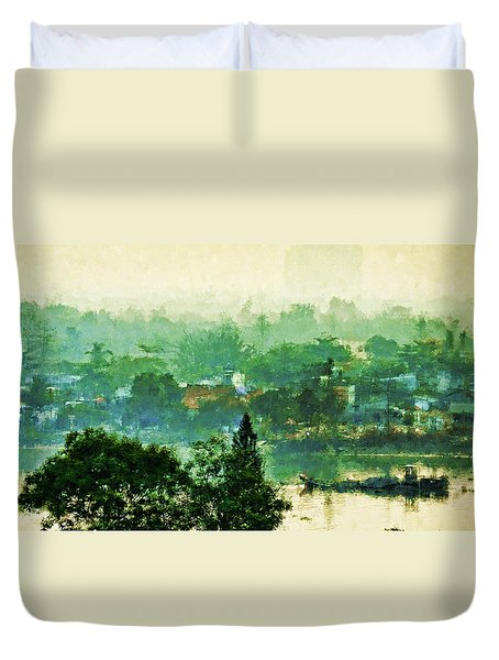 Mekong Morning Duvet Cover