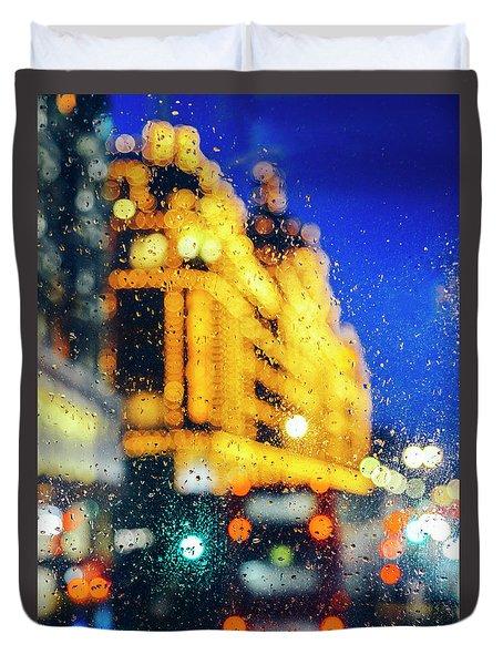 Melancholic London Lights  Duvet Cover