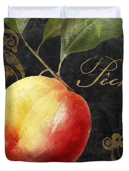 Melange Peach Peche Duvet Cover by Mindy Sommers