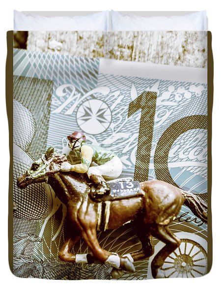 Melbourne Cup Wager Duvet Cover