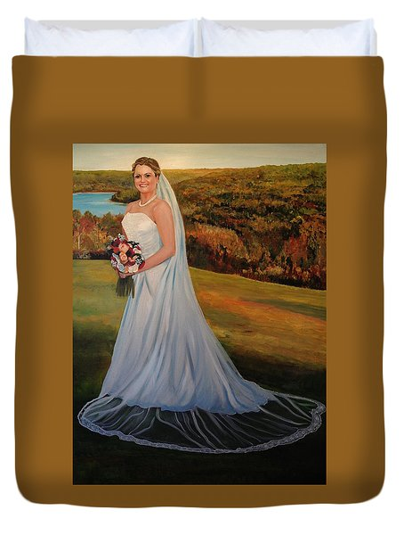 Duvet Cover featuring the painting Melissa by Alan Lakin