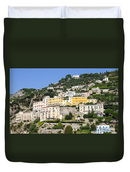 Mellow Yellow Buildings Duvet Cover