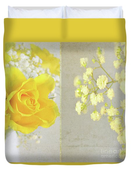 Duvet Cover featuring the photograph Mellow Yellow by Lyn Randle