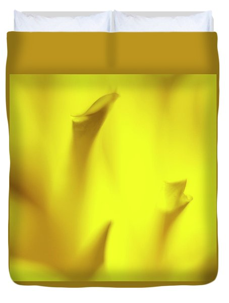 Mellow Yellow Duvet Cover by Tony Locke