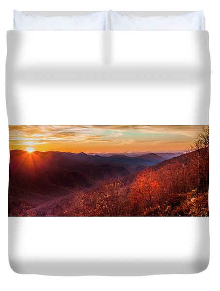 Duvet Cover featuring the photograph Melody Of Autumn by Karen Wiles