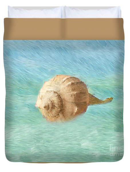 Duvet Cover featuring the photograph Melody Of The Sea by Betty LaRue
