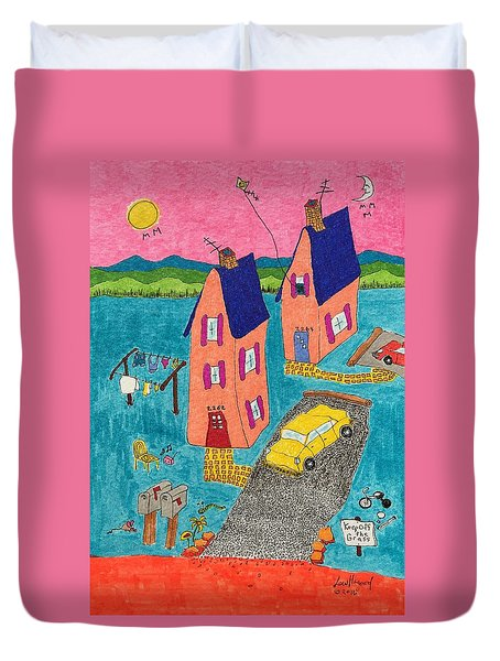 Melon Houses Duvet Cover