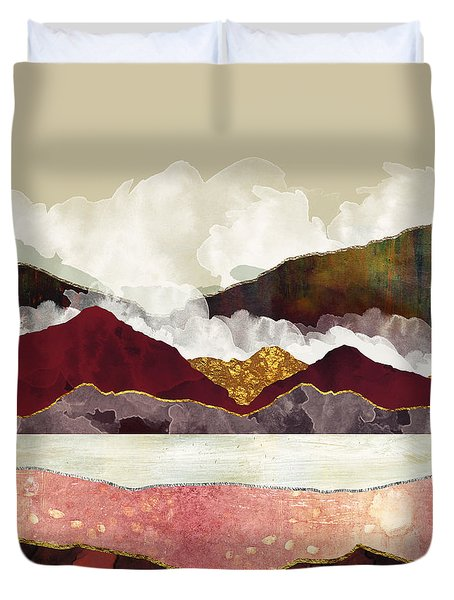 Melon Mountains Duvet Cover