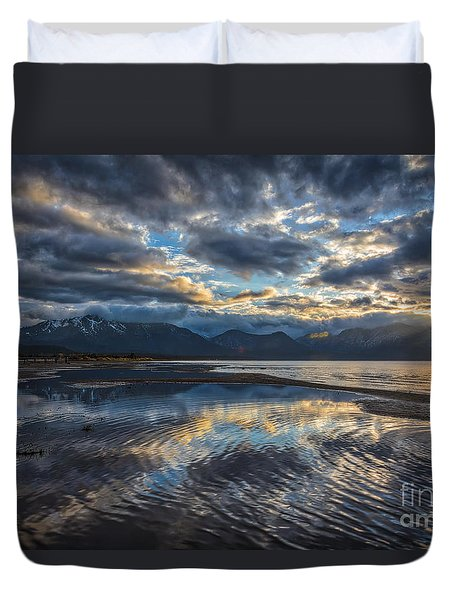 Duvet Cover featuring the photograph Melting Away by Mitch Shindelbower