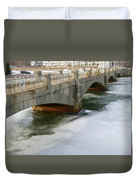 Melting Ice Duvet Cover