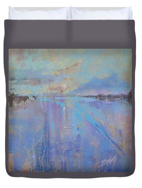 Melting Reflections Duvet Cover by Laura Lee Zanghetti