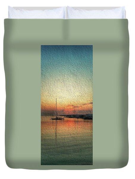 Melting Suneset  Duvet Cover
