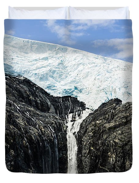 Meltwater From The Northland Glacier Duvet Cover