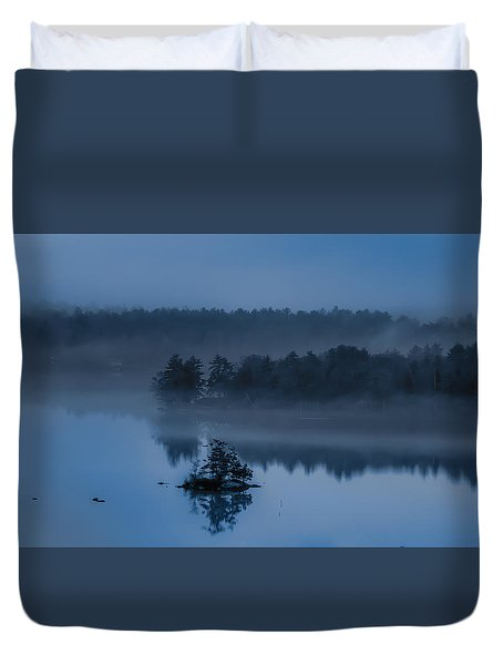 Melvin Bay Blues Duvet Cover