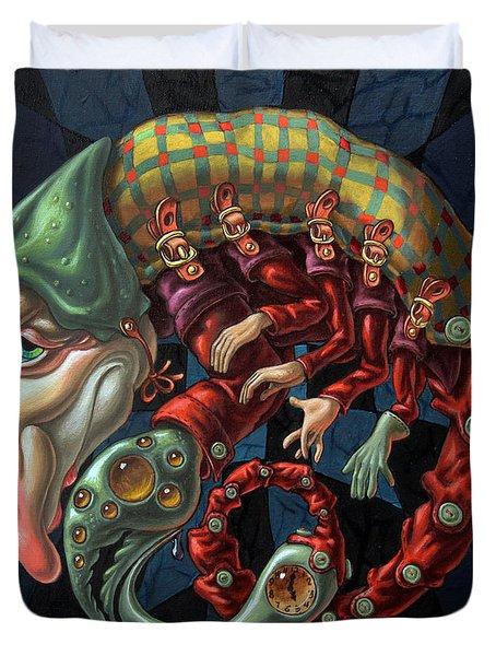 Memento Mori. Red Scorpion Duvet Cover