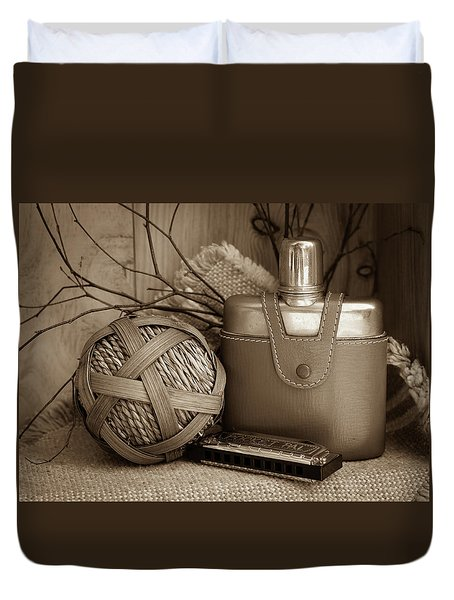 Memories Of The Past Duvet Cover by Patrice Zinck