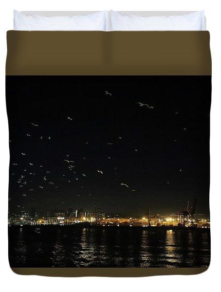 Memorable Naples Evening Departure Duvet Cover
