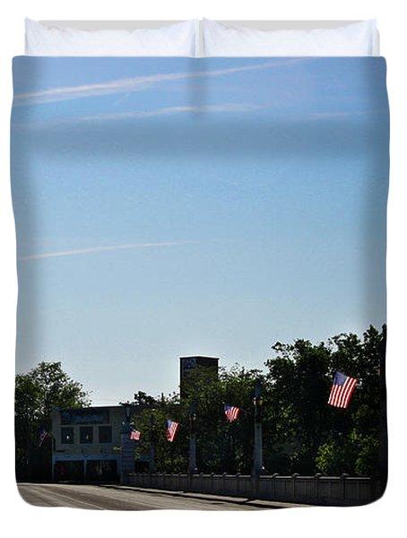 Memorial Avenue Bridge Roanoke Virginia Duvet Cover by Teresa Mucha