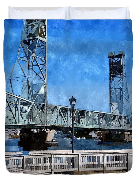 Memorial Bridge Mbwc Duvet Cover