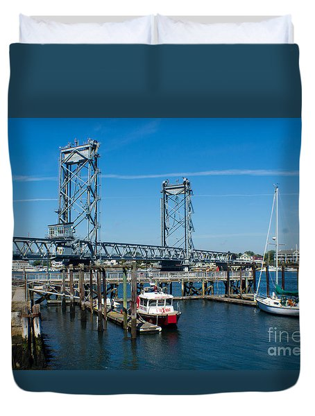 Memorial Bridge Portsmouth Duvet Cover by Kevin Fortier