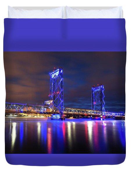 Memorial Bridge Duvet Cover by Robert Clifford