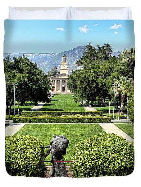 Memorial Chapel University Of Redlands Duvet Cover