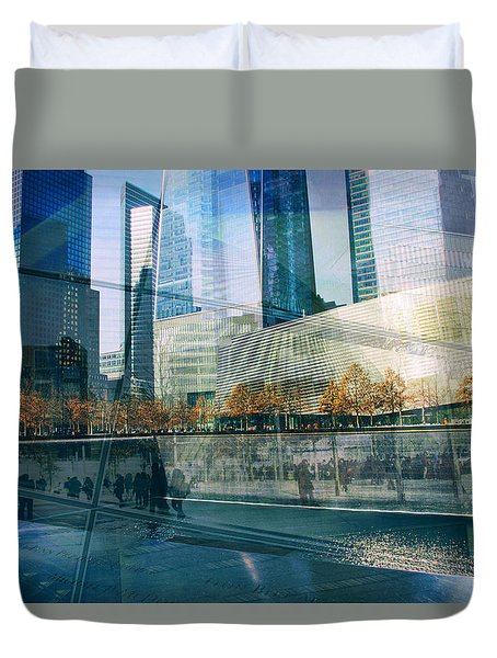 Duvet Cover featuring the photograph Memorial Collage by Jessica Jenney